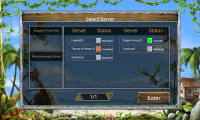 Dragon Kingdom - Select server and login