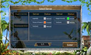 Dragon Kingdom - Select server and login