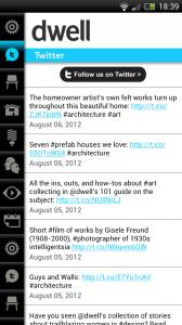 Dwell - Twitter feed