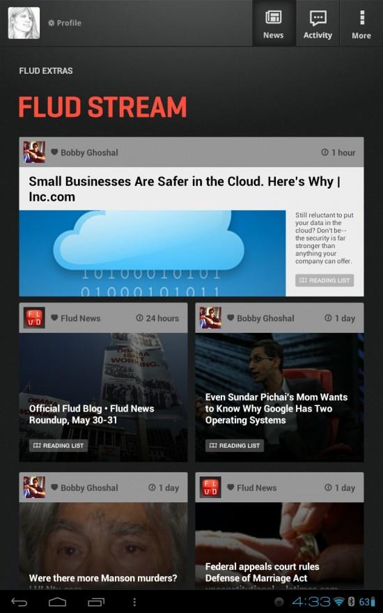Flud News – a solid, social news reader app