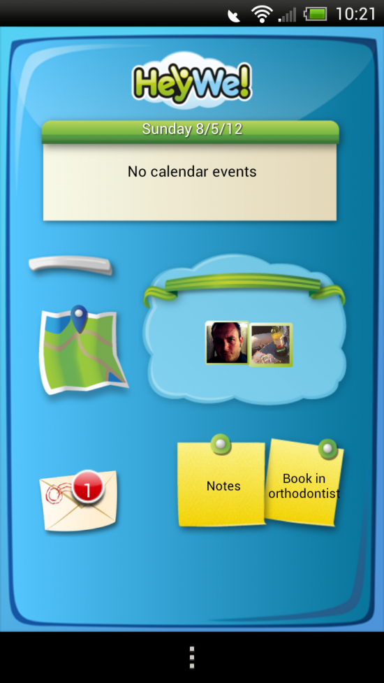 HeyWe! Family – an app to organize the family; group messaging, shared calendar & locator