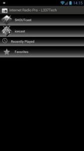 Internet Radio – L337Tech - Main screen