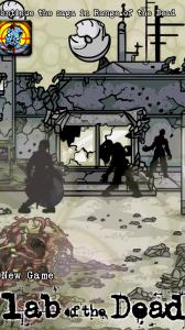Lab of the Dead - Menu