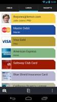 Lemon Wallet - Cards view