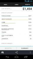 Lemon Wallet - Receipts totals, account