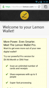 Lemon Wallet - Welcome
