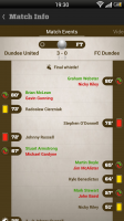 Live Score Addicts - Match events