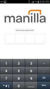 Manilla 4 Digit Pincode in Addition to Password