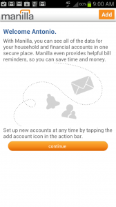 Manilla Welcome Screen