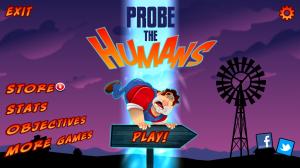 Probe the Humans - Main menu
