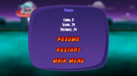 Probe the Humans - Pause menu