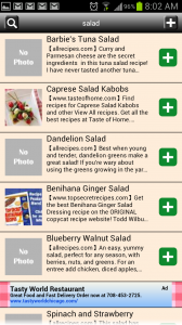 Recipe Search for Android Search Results