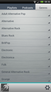 Rocket Music Player - Genres