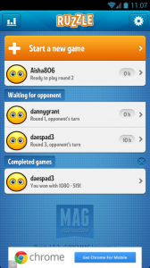 Ruzzle - Currently running games