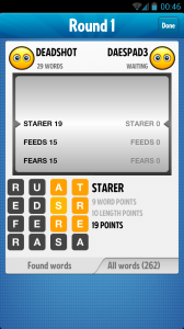 Ruzzle - End of round one