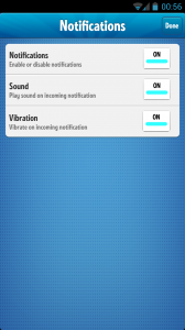Ruzzle - Notification settings