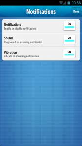 Ruzzle - Notification settings
