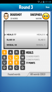Ruzzle - Round summary
