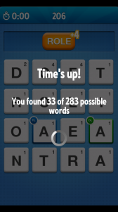 Ruzzle - Time's up