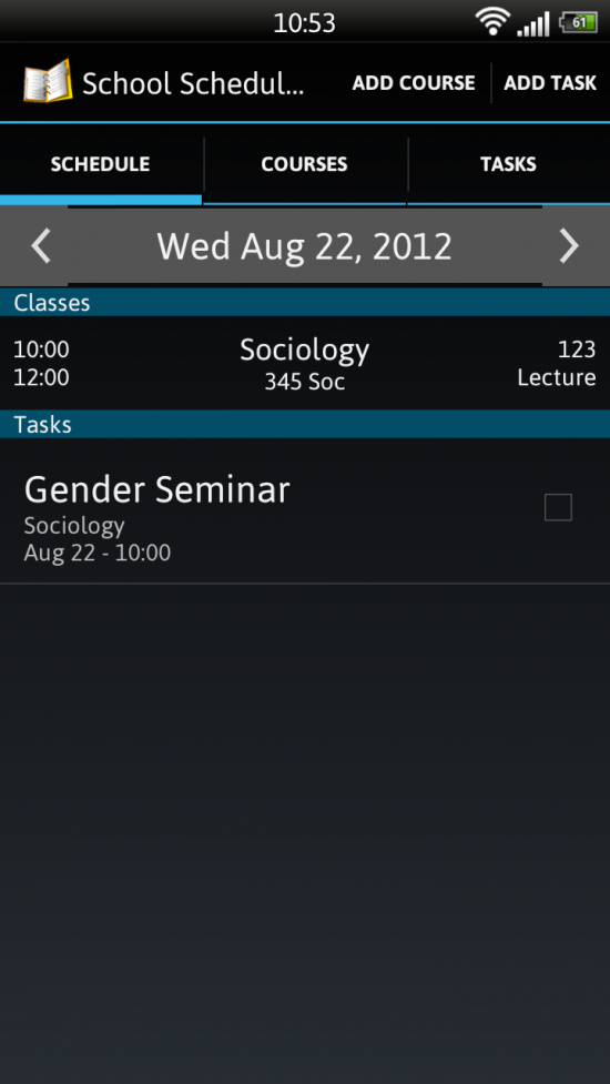 School Scheduler – app for Students to help Organize courses, syncs with Google Calendar