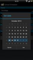 School Scheduler - Set date