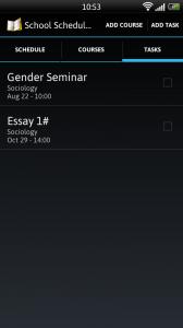 School Scheduler - Tasks