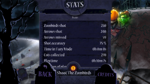 Shoot the Zombirds - Stats