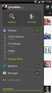 Slices - Slide out menu