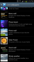 Solar Power Listed in Live Wallpapers