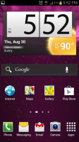 Solar Power Live Wallpaper on Homescreen