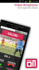 SportOn Video Ringtones Start Screen