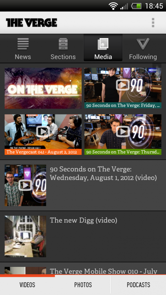 The Verge – the beautiful & awesome app for up to date Tech News!