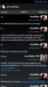 Tweedle - Darker theme, profile tweets