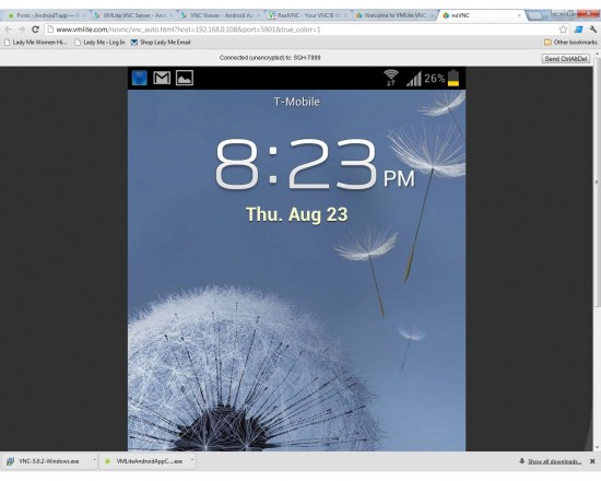 VMLite VNC Server – control your Android phone or tablet from your computer!