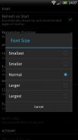 Webby - Font size options