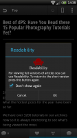 Webby - Use Readability to see full articles