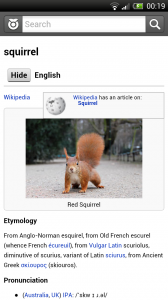 Wiktionary - Good use of pictures