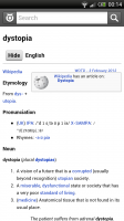 Wiktionary - Typical entry