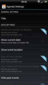 Wizz Widget - Agenda settings