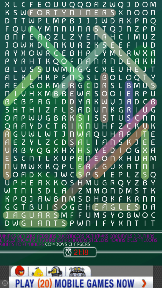 Word Search Puzzle – a classic word game available for Android