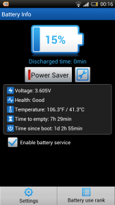 ZDbox - Battery level and controls
