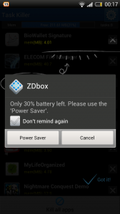 ZDbox - Warning notifications