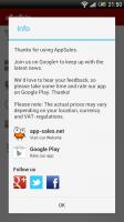 AppSales - App info