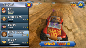 Beach Buggy Blitz - Various drivers to unlock