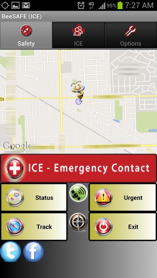 BeeSafe, an I.C.E. (In Case of Emergency) app