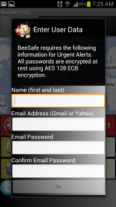 BeeSafe Requires Gmail or Yahoo Email Access