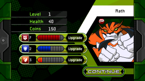 Ben 10 Xenodrome - End of level boosts