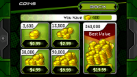 Ben 10 Xenodrome - In-app coin purchases
