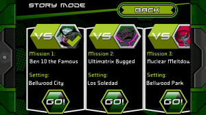 Ben 10 Xenodrome - Story mode missions