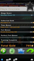 Fort Courage End of Level Stats